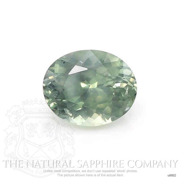 Natural Untreated Yellowish Green Sapphire U6602 Image