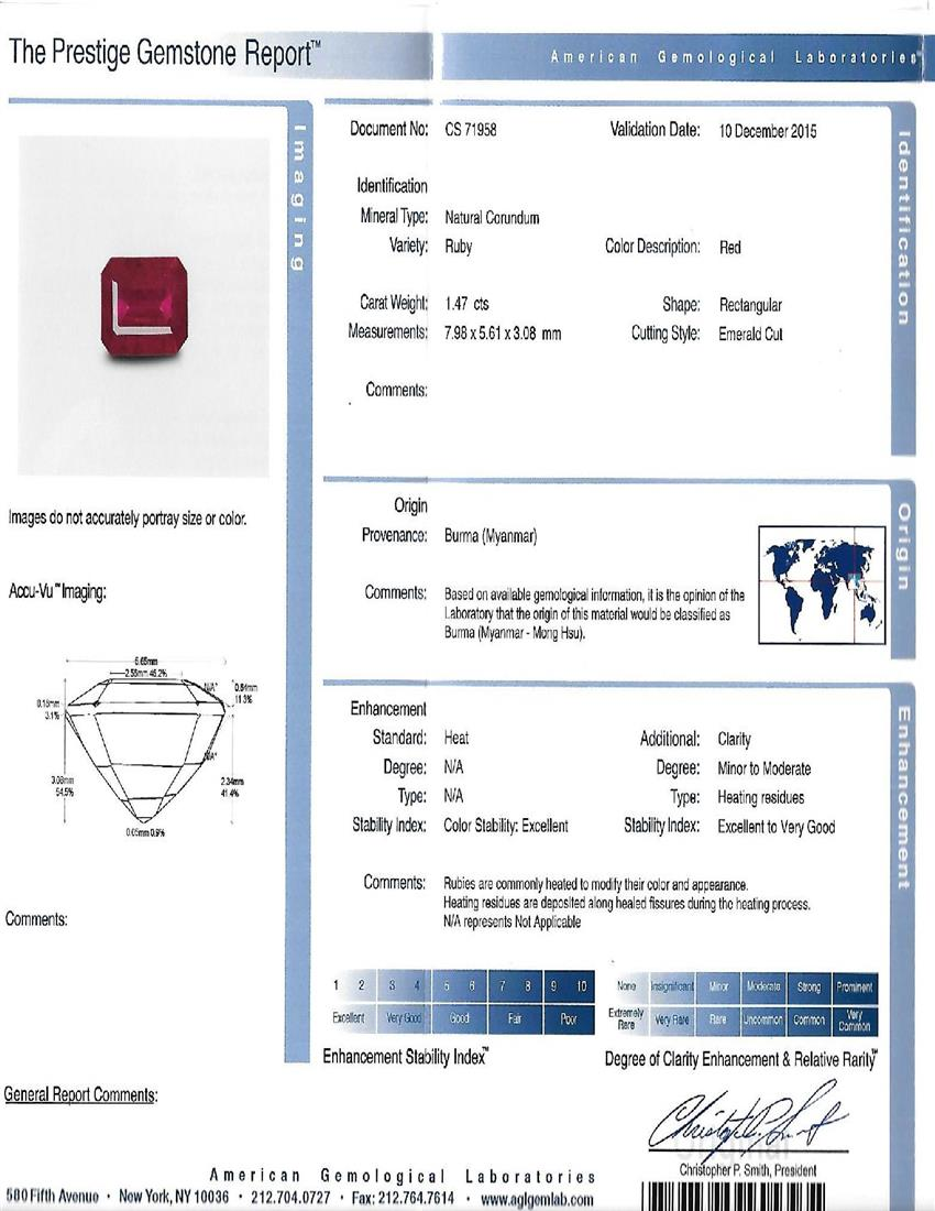 Natural Ruby U6687 Certification 3