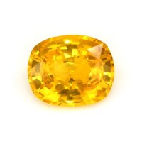 4.39ct Ceylon Cushion Orangish Yellow Sapphire - U6701
