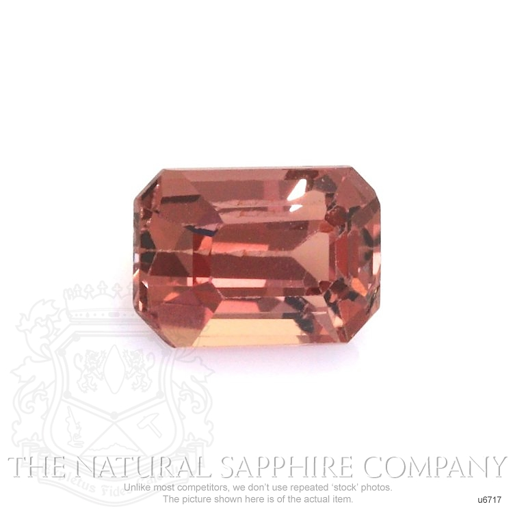 Natural Untreated Orangish Red Sapphire U6717 Image