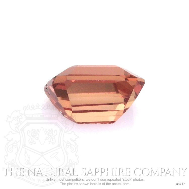 Natural Untreated Orangish Red Sapphire U6717 Image 2