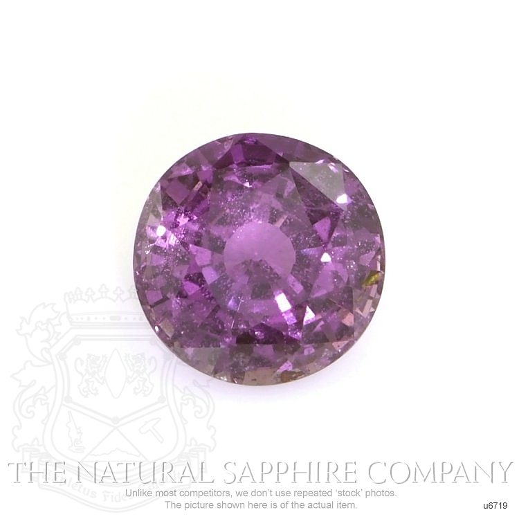Natural Untreated Purple Star Sapphire U6719 Image
