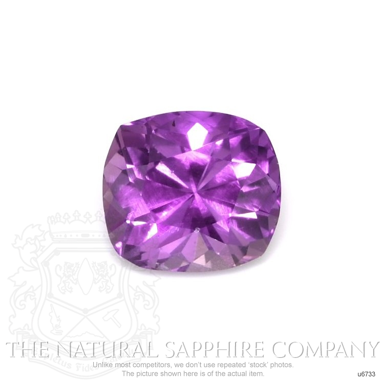 Natural Untreated Purple Sapphire U6733 Image