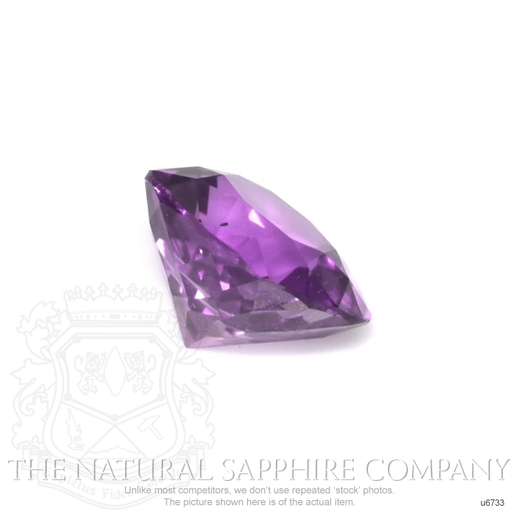 Natural Untreated Purple Sapphire U6733 Image 3