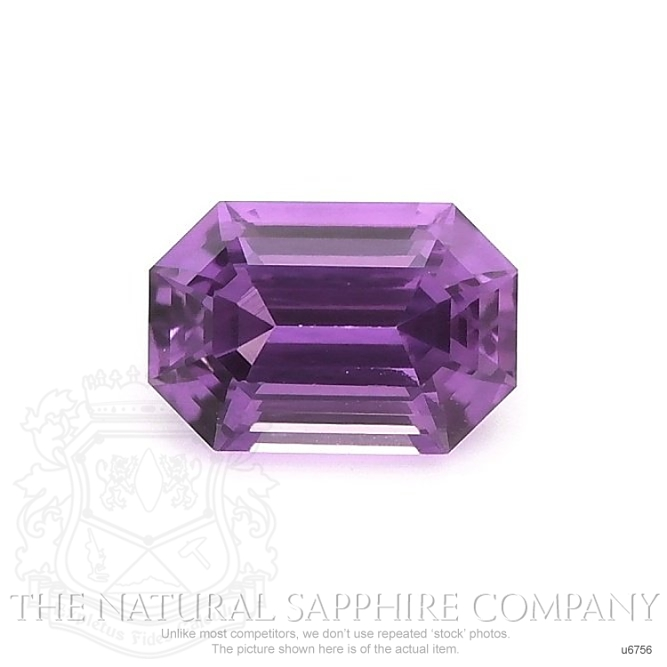 Natural Untreated Purple Sapphire U6756 Image