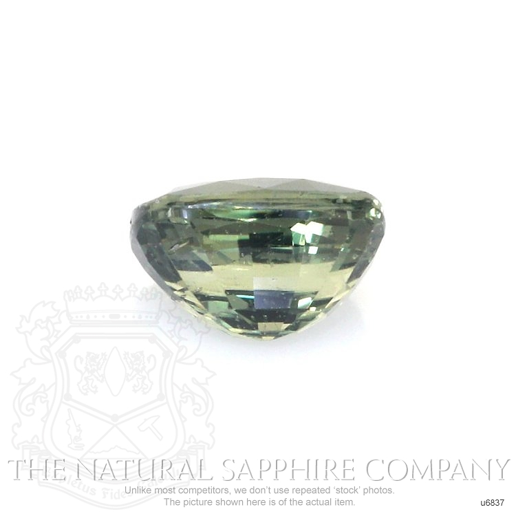Natural Untreated Green Sapphire U6837 Image 2