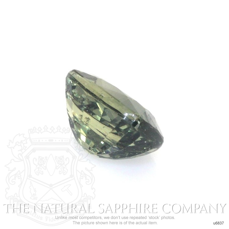 Natural Untreated Green Sapphire U6837 Image 3