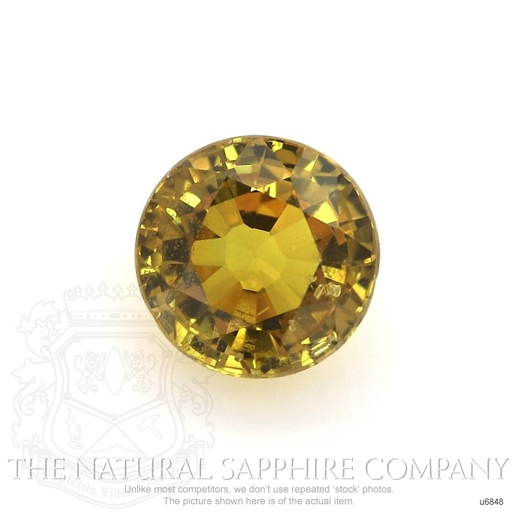 Natural Untreated Yellowish Brown Sapphire U6848 Image