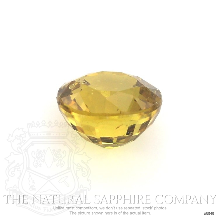 Natural Untreated Yellowish Brown Sapphire U6848 Image 2