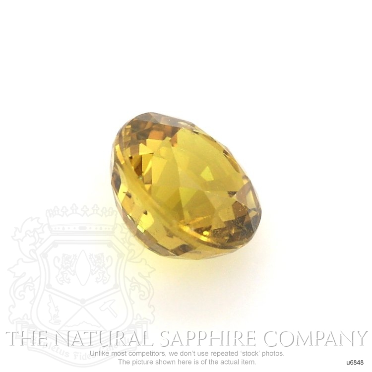 Natural Untreated Yellowish Brown Sapphire U6848 Image 3