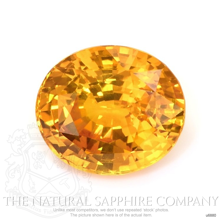 Natural Yellowish Orange Sapphire U6880 Image