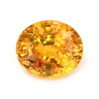 7.84ct Ceylon Oval Yellowish Orange Sapphire - U6880