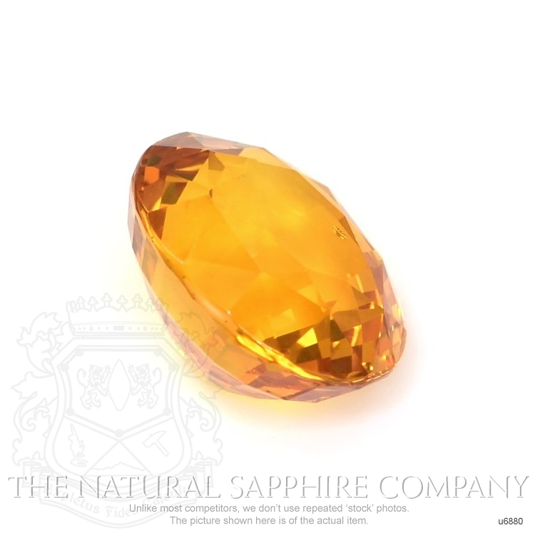 Natural Yellowish Orange Sapphire U6880 Image 3
