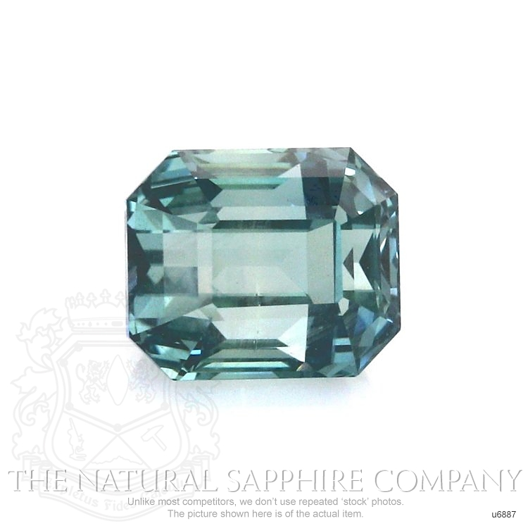 Natural Untreated Green Sapphire U6887 Image