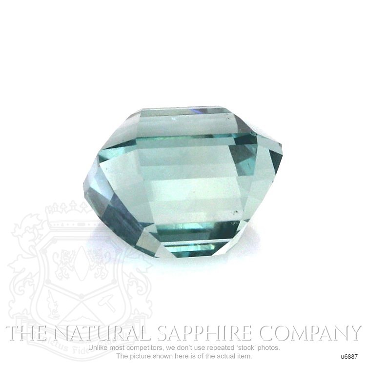 Natural Untreated Green Sapphire U6887 Image 2