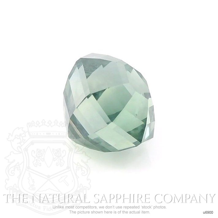 Natural Untreated Green Sapphire U6900 Image 3