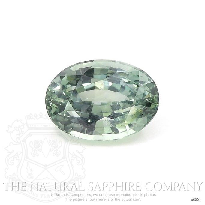Natural Untreated Green Sapphire U6901 Image