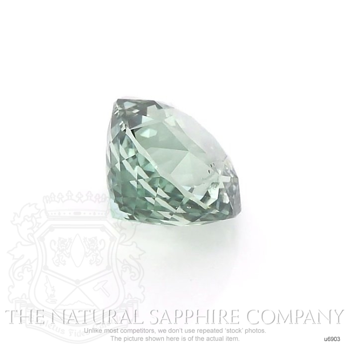 Natural Untreated Green Sapphire U6903 Image 3