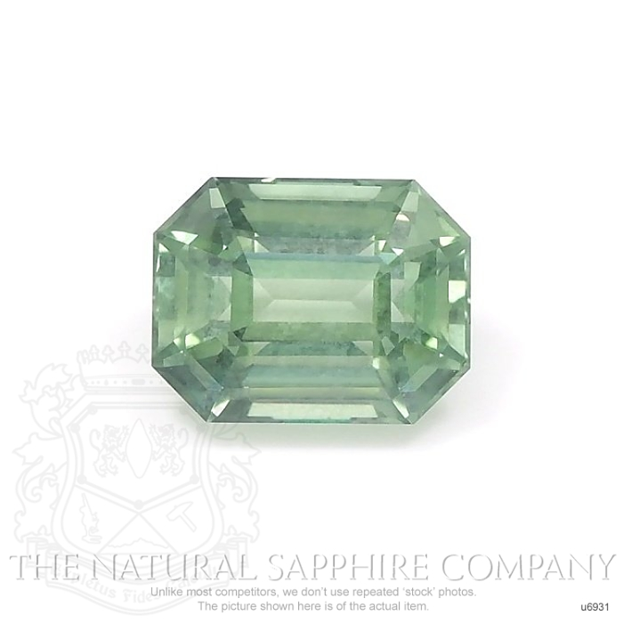 Natural Untreated Green Sapphire U6931 Image
