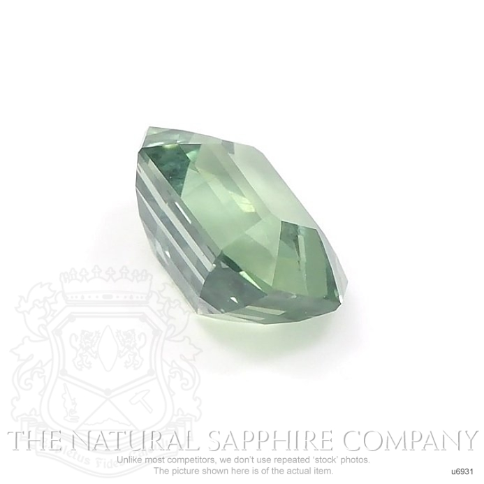 Natural Untreated Green Sapphire U6931 Image 3
