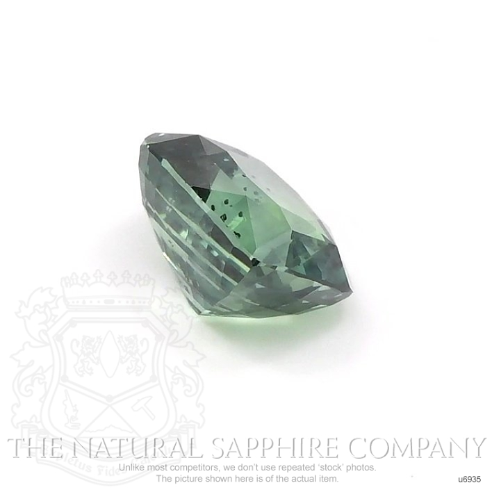 Natural Untreated Green Sapphire U6935 Image 3