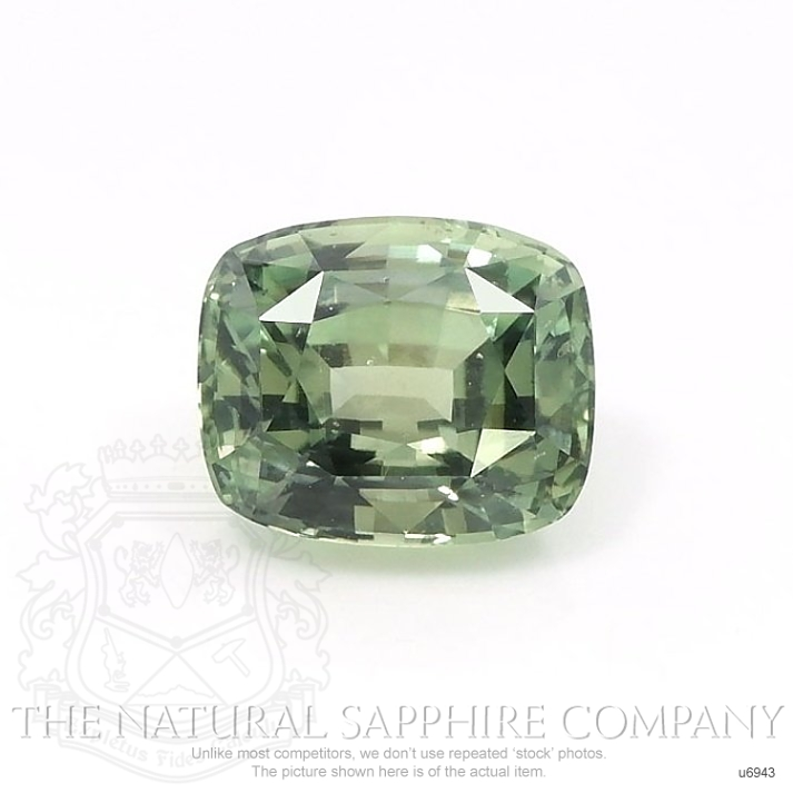 Natural Untreated Yellowish Green Sapphire U6943 Image