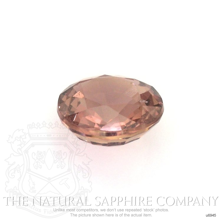 Natural Untreated Orangish Red Sapphire U6945 Image 2
