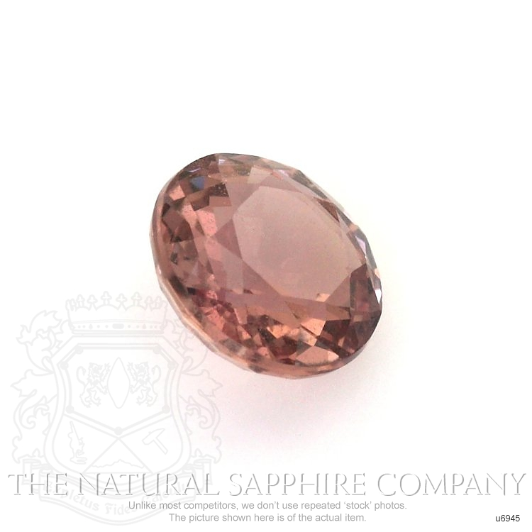 Natural Untreated Orangish Red Sapphire U6945 Image 3