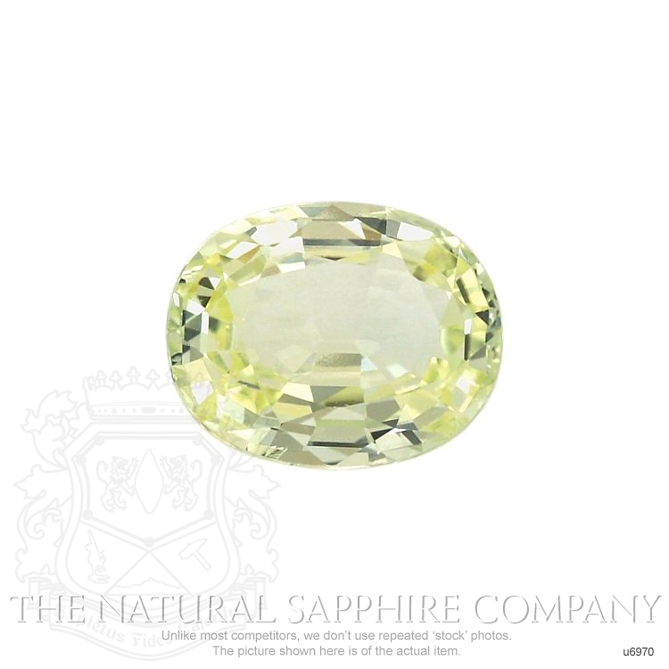 Natural Untreated Greenish Yellow Sapphire U6970 Image