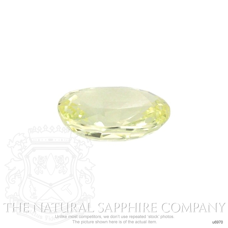 Natural Untreated Greenish Yellow Sapphire U6970 Image 2