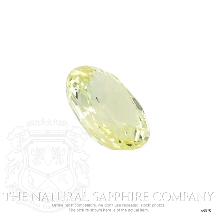 Natural Untreated Greenish Yellow Sapphire U6970 Image 3