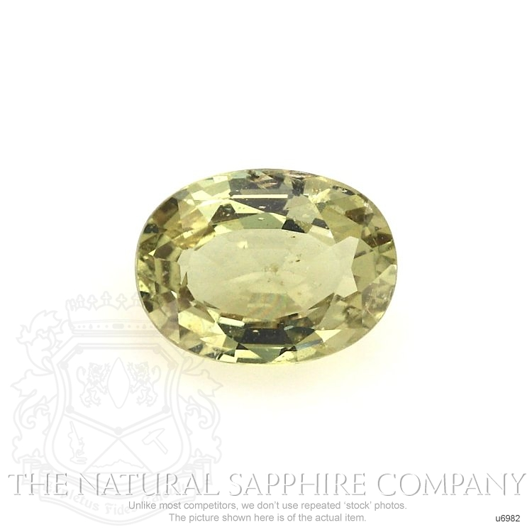 Natural Untreated Yellowish Green Sapphire U6982 Image
