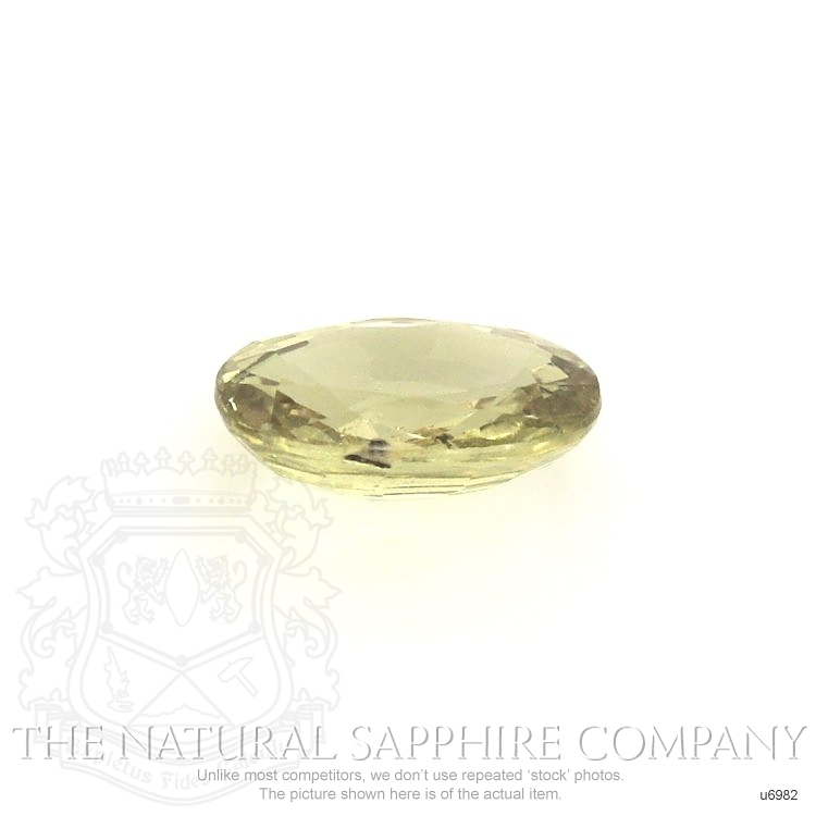 Natural Untreated Yellowish Green Sapphire U6982 Image 2