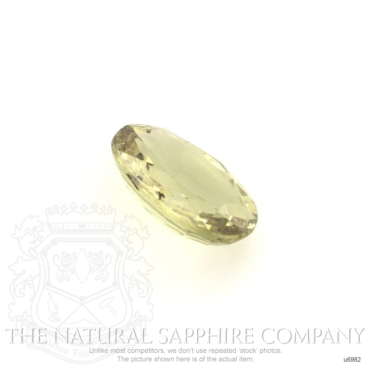 Natural Untreated Yellowish Green Sapphire U6982 Image 3