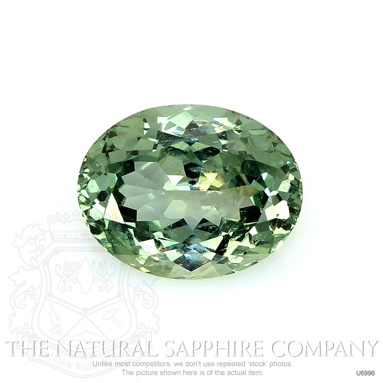 Natural Untreated Green Sapphire U6996 Image
