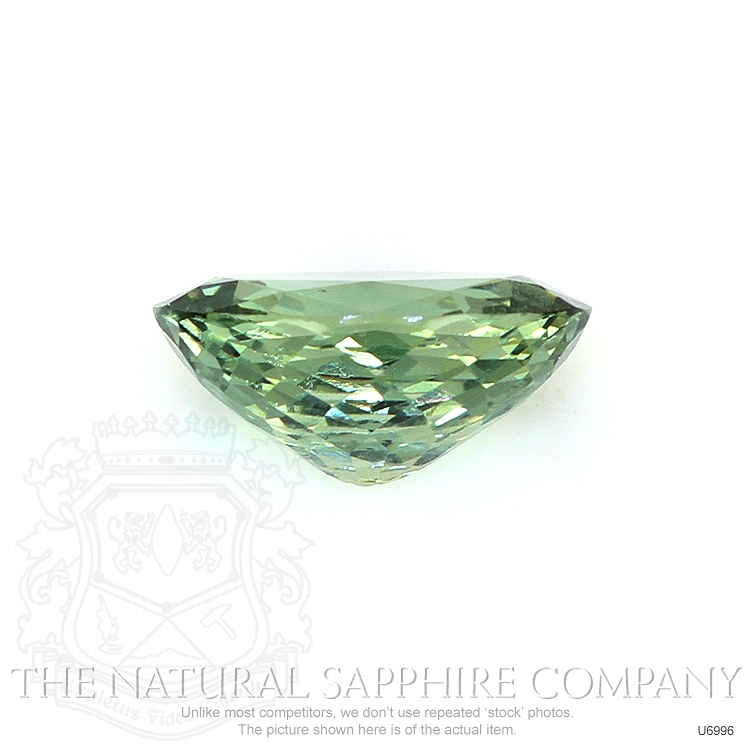 Natural Untreated Green Sapphire U6996 Image 2
