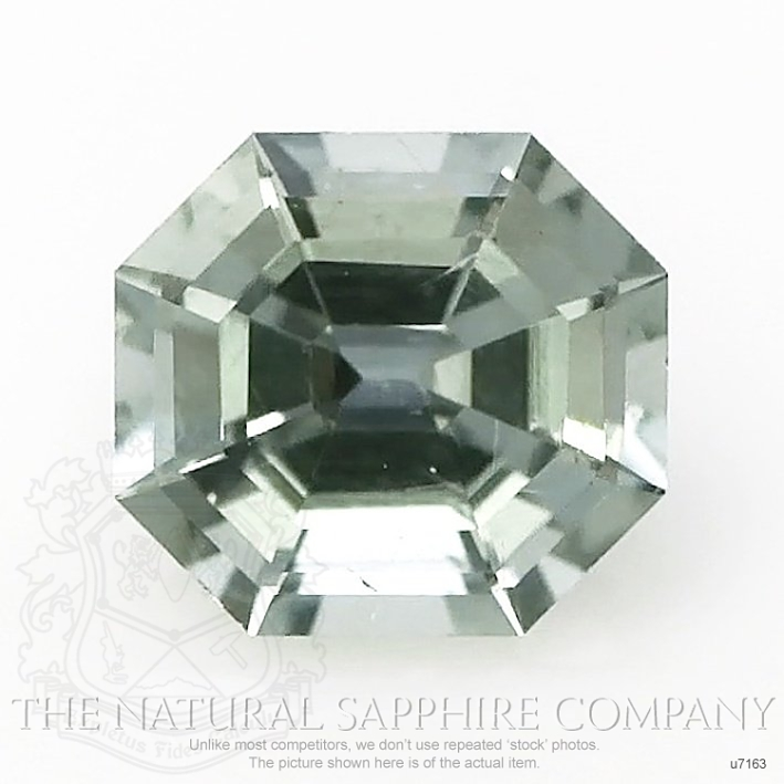 Natural Untreated Green Sapphire U7163 Image