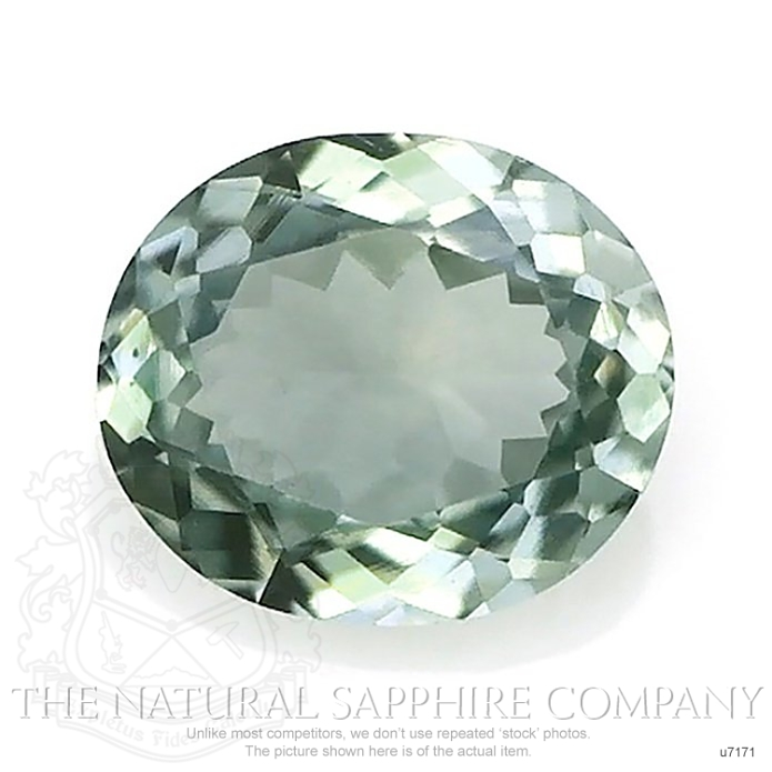 Natural Untreated Green Sapphire U7171 Image
