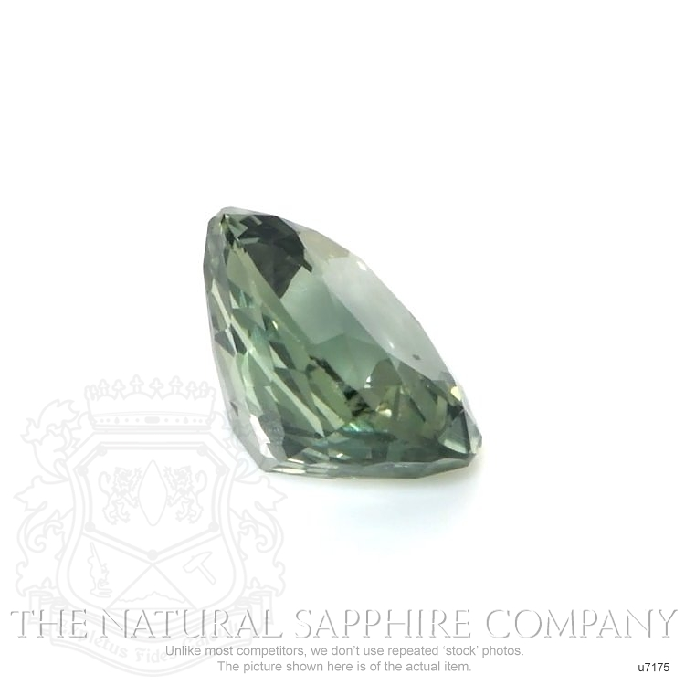 Natural Untreated Green Sapphire U7175 Image 3