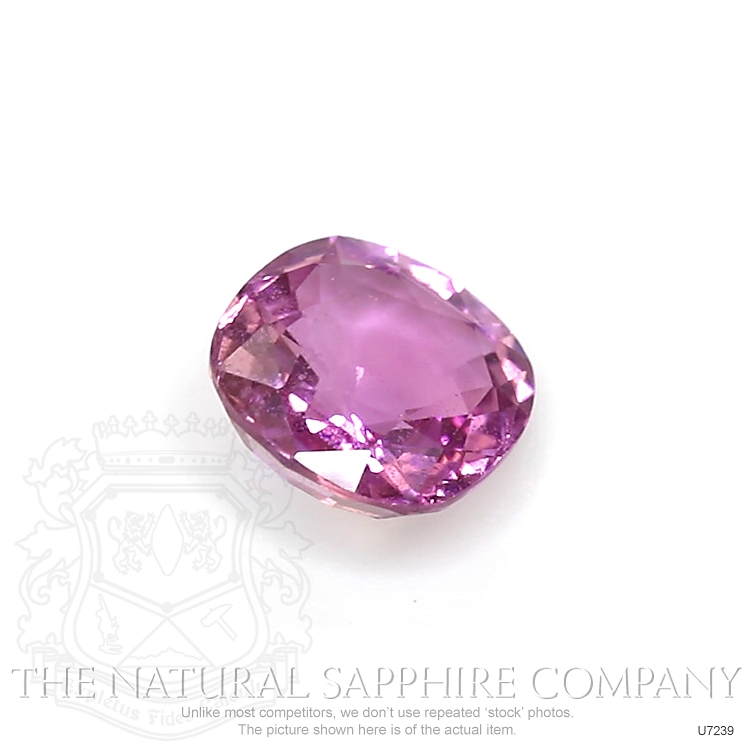 Natural Untreated Purplish Pink Sapphire U7239 Image 3
