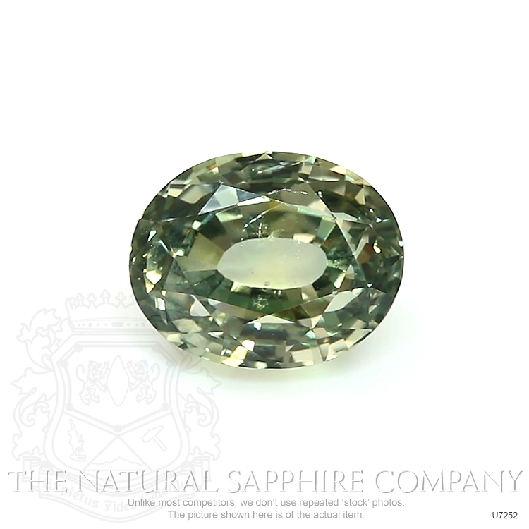 Natural Untreated Greenish Yellow Sapphire U7252 Image