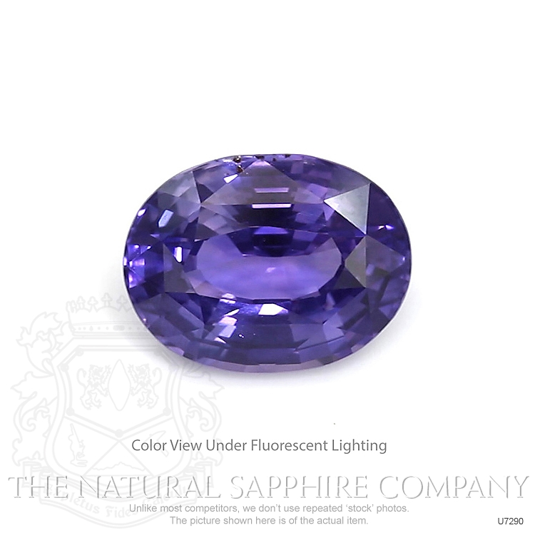 Natural Untreated Color-Change Sapphire U7290 Image