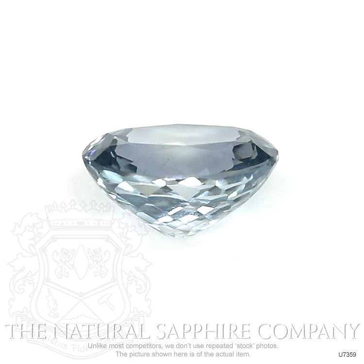 Natural Untreated Grayish Blue Sapphire U7359 Image 2
