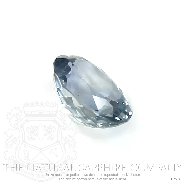 Natural Untreated Grayish Blue Sapphire U7359 Image 3