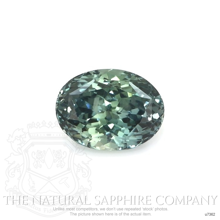 Natural Untreated Greenish Blue Sapphire U7362 Image