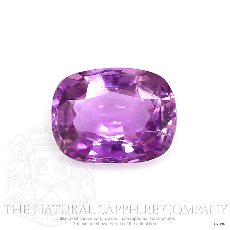 Natural Untreated Purple Sapphire U7386 Image