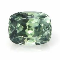 1.12ct Montana Cushion Yellowish Green Sapphire - U7664