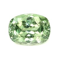 3.06ct Montana Cushion Yellowish Green Sapphire - U7688