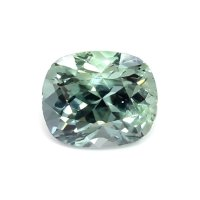 5.21ct Burma (Myanmar) Cushion Greenish Blue Sapphire - U7720