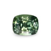 1.86ct Nigeria Cushion Yellowish Green Sapphire - U7793